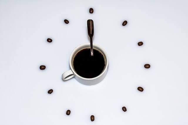 время действия кофе