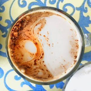 Мокачино на основе белого шоколада