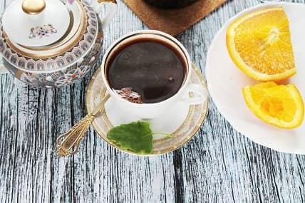 Турецкий кофе с апельсиновым соком