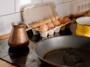 Кофе по-турецки с куриным желтком